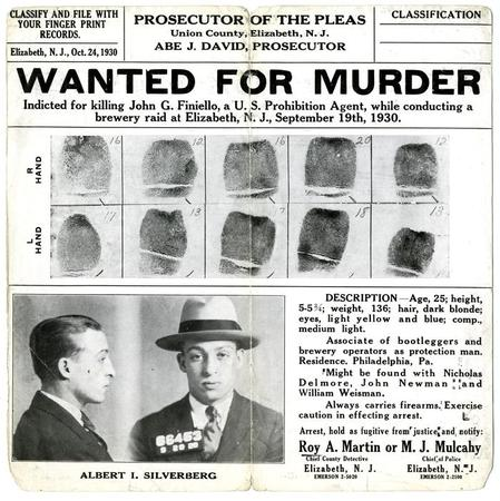Wanted Poster For Albert I. Silverberg  Criminal Wanted Poster