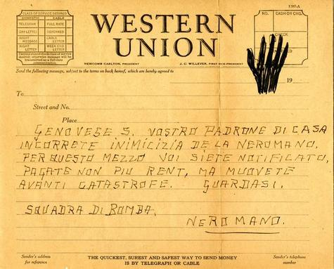 Telegram College Of Black Sheet Hand Collections John Western Justice Digital Library Jay Lloyd On Criminal Letter Sealy Union