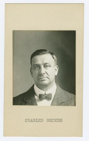 Mug shot of Charles Becker