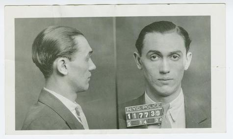 Mug shots of Howard Davelman, alias Dave Hailes, alias Little Davey