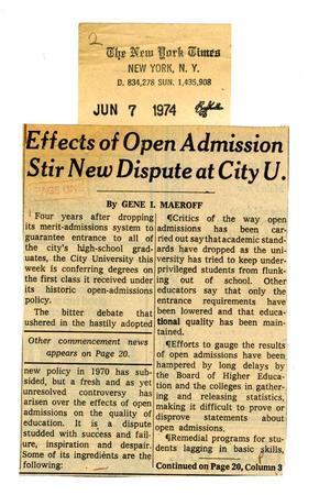 John Jay College history: 1970