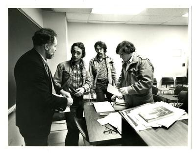 Professor Sheldon Waxenberg and students