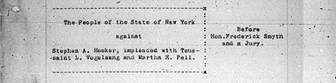Trial Transcripts of the County of New York 1883-1927